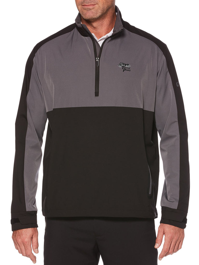 Torrey Pines Mens Swing Tech 1/4 Zip Color Block Full Sleeve Golf Windshirt - Merchandise and Services from The Golf Shop at Torrey Pines