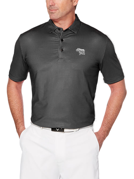 Torrey Pines Men's Short Sleeve Printed Gingham Golf Polo - Merchandise and Services from The Golf Shop at Torrey Pines