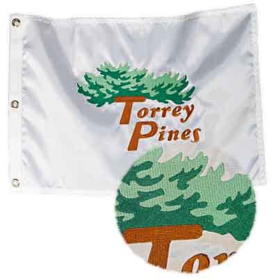Torrey Pines Embroidered Pin Flag - Merchandise and Services from The Golf Shop at Torrey Pines