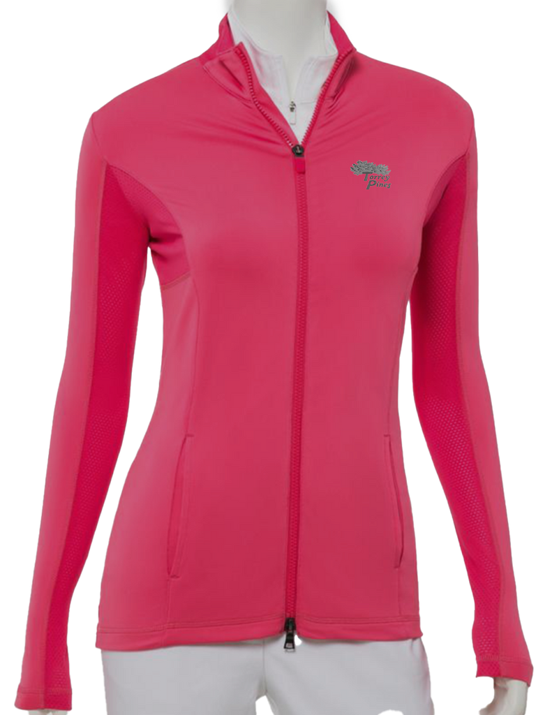 Torrey Pines Women's Full Zip Brushed Jersey Jacket - Merchandise and Services from The Golf Shop at Torrey Pines