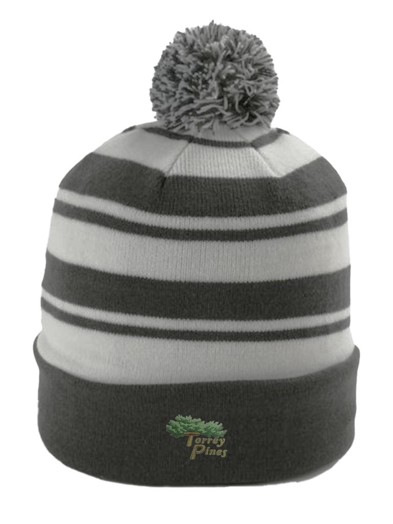 Torrey Pines Striped Cuffed Knit Beanie - Merchandise and Services from The Golf Shop at Torrey Pines