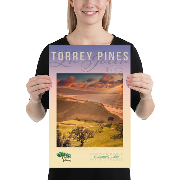 Torrey Pines South Course Signature Par 3 Poster - Merchandise and Services from The Golf Shop at Torrey Pines