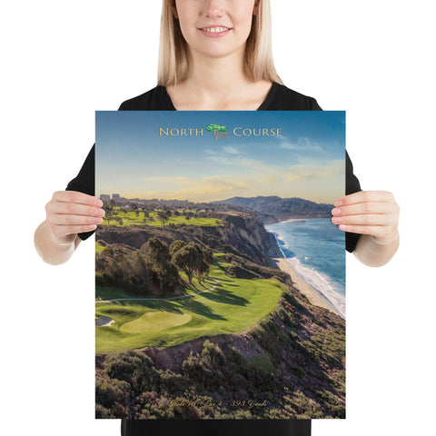 Torrey Pines North Course Signature Par 4 Hole 16 Poster - Merchandise and Services from The Golf Shop at Torrey Pines
