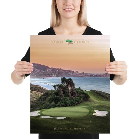 Torrey Pines North Course Signature Par 3 Hole 15 Poster - Merchandise and Services from The Golf Shop at Torrey Pines