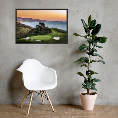 Torrey Pines North Course Hole 15 Signature Par 3 Framed Poster - Merchandise and Services from The Golf Shop at Torrey Pines