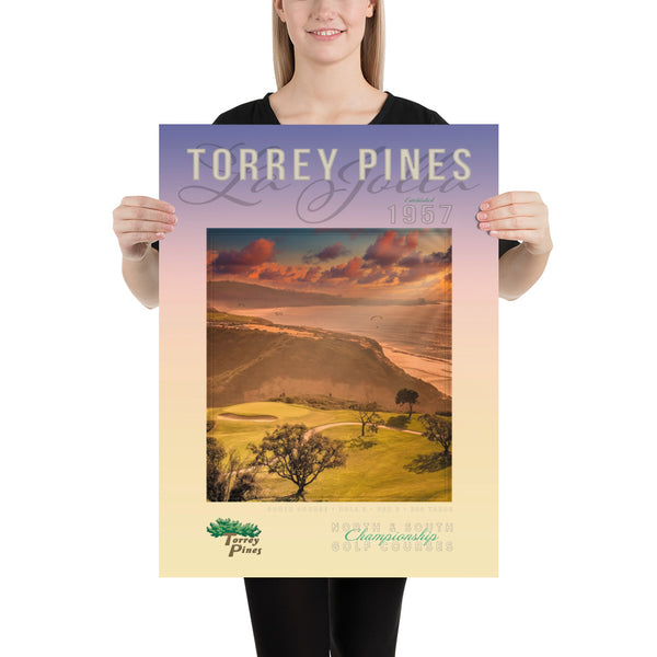 Torrey Pines South Course Signature Par 3 Poster - The Golf Shop at Torrey Pines