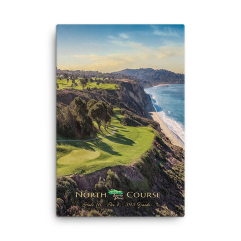 Torrey Pines North Course Signature Par 4 16th Hole on Canvas - Merchandise and Services from The Golf Shop at Torrey Pines