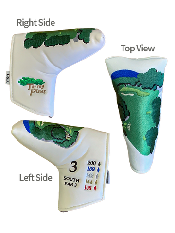 Torrey Pines South Par 3 Blade-Style Signature Putter Cover - Merchandise and Services from The Golf Shop at Torrey Pines