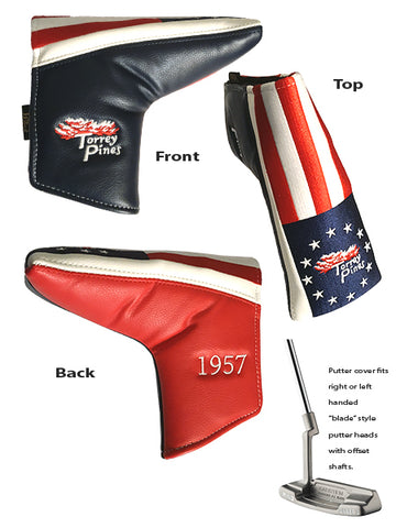 Torrey Pines Stars and Strips Putter Cover - The Golf Shop at Torrey Pines