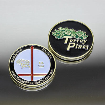 Torrey Pines Red Arrow Medallion Ball Marker - The Golf Shop at Torrey Pines