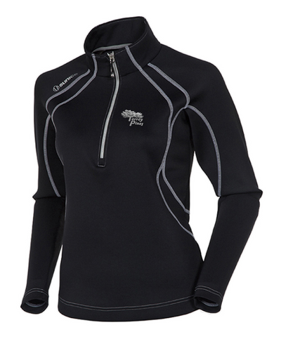 Torrey Pines Women's Megan SuperliteFX Stretch Thermal 1/4-Zip Pullover - The Golf Shop at Torrey Pines