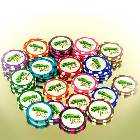 Torrey Pines Poker Chip Ball Markers - Merchandise and Services from The Golf Shop at Torrey Pines