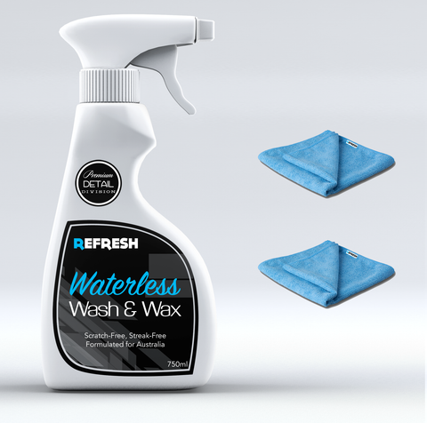 Waterless Wash & Wax + Cloth Combo - Save 25%