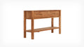 "48"" solid oak 2 drawer console table"