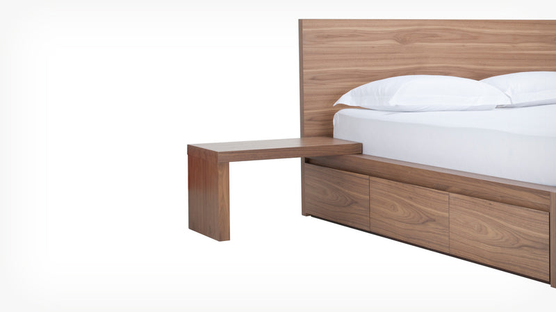 Simple Bed L-Nightstand