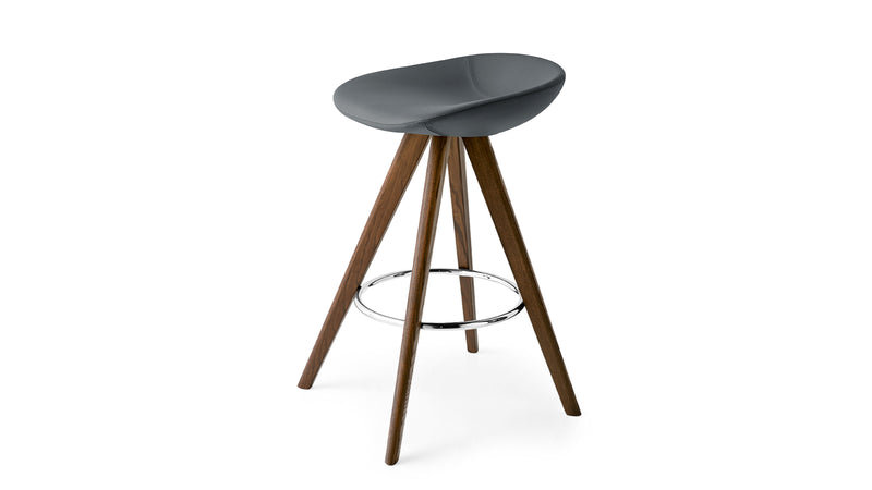 Palm Wood Counter Stool