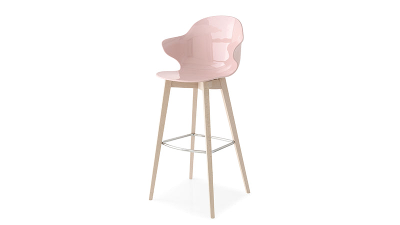 Saint Tropez Wood Bar Stool