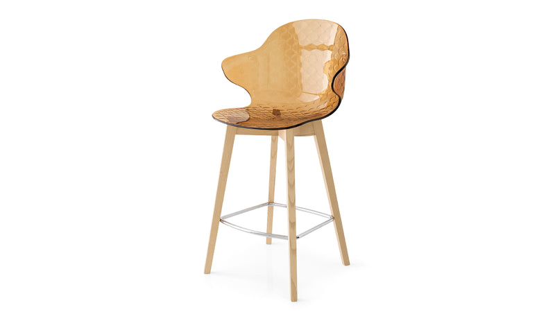Saint Tropez Wood Counter Stool