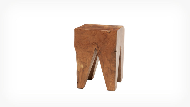 Solid Teak Stool - Square