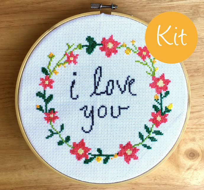 I Love You Cross Stitch Kit - Love Cross Stitch, leia patterns
