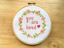 cross stitch pattern love