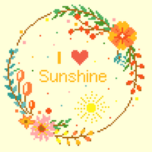 I Love Sunshine Cross Stitch Pattern Saying