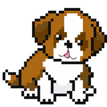 Cute St. Bernard Puppy Cross Stitch Pattern, leia patterns