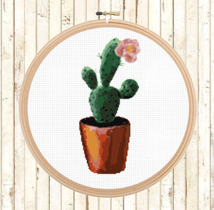 Cactus Cross Stitch Patterns Set - Modern Succulent Cross Stitch Patterns