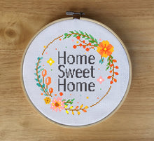 Home Sweet Home Cross Stitch Kit - Quote Cross Stitch Kit