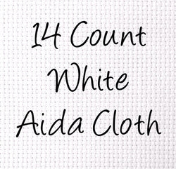 Aida 14 Count Cross Stitch Cloth White - Choose Your Size