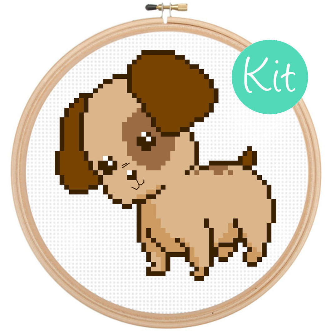 dog cross stitch kit, cute cross stitch kit