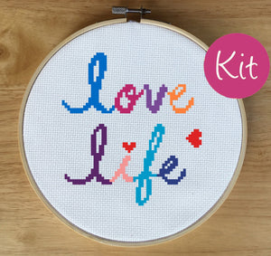 love cross stitch, quote cross stitch