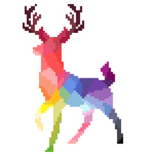 Colorful Deer Cross Stitch Kit