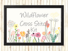Wildflower Cross Stitch Kit, Flower Cross Stitch