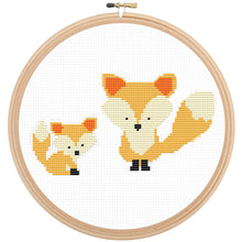 Modern Animal Cross Stitch Kit Set - Cute Baby Animals Counted Cross Stitch Pattern, Fox, Whale, Elephant, Koala, Giraffe, Puppy Dog