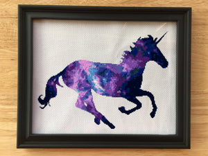 Galaxy Unicorn Cross Stitch Pattern