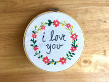 I Love you cross stitch pattern
