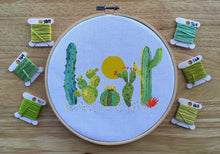 Cactus Cross Stitch Pattern, Cacti Under the Sun