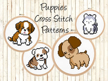 Cute St. Bernard Puppy Dog Cross Stitch Kit