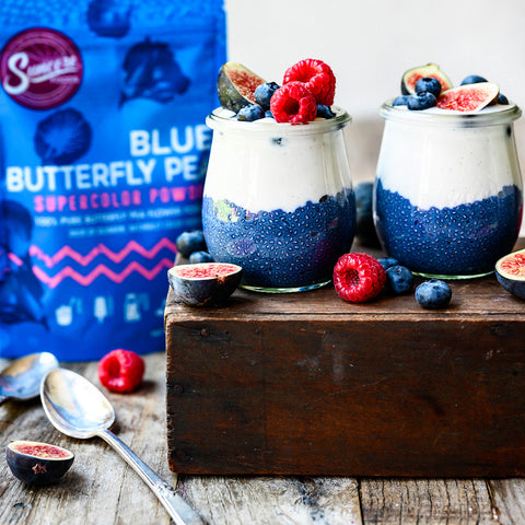 Blue Butterfly Pea Chia Pudding