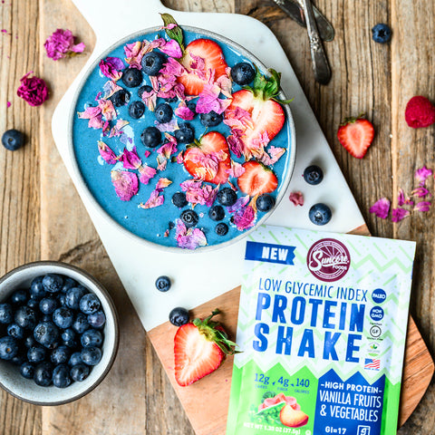 Blue Spirulina Protein Smoothie Bowl