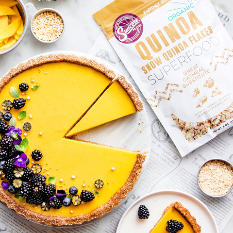 Mango Key Lime Tart with Quinoa Flake Almond Crust