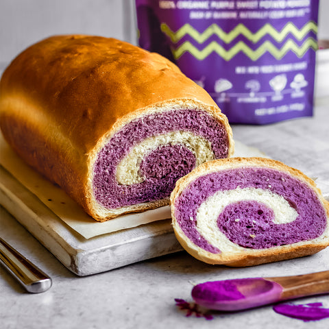 Purple Sweet Potato Swirl Bread