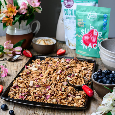 Rose Apple Coconut Chips Granola