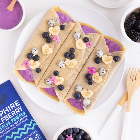 Sapphire Wolfberry Vanilla Protein Crepes