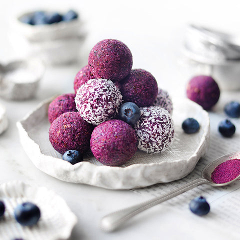 Blueberry & Acai Berry Supercolor Powder Bliss Balls