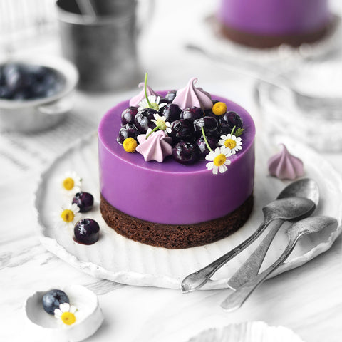 Blueberry Maqui Berry Chocolate Cake