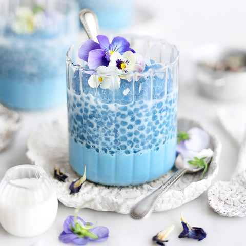 Butterfly Pea Flower Coconut Sago