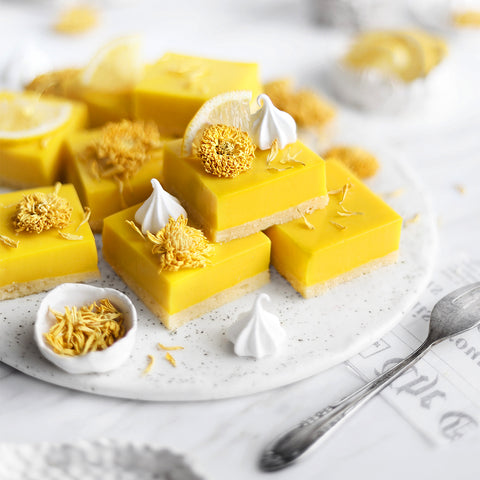 Lemon & Chrysanthemum Blossom Slices