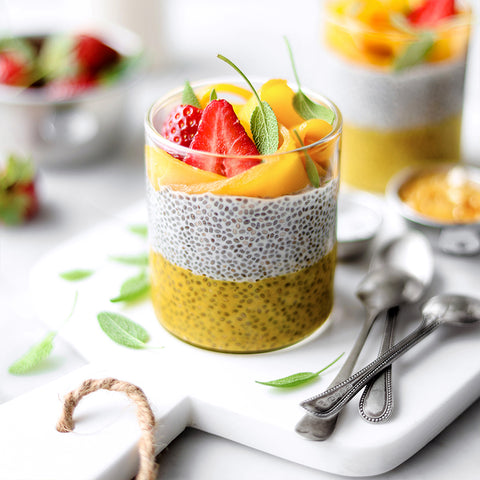 Mango Passion Fruit Chia Pudding